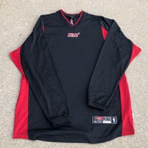 9c3af973 Vintage Nike NBA Miami Heat Warmup Shooting Shirt